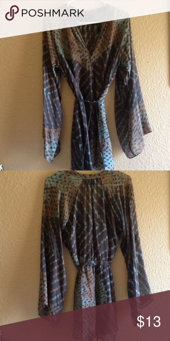 Charlie Jade Wrap Silk Tunic 100% Silk, size S. Runs big. Charlie Jade  Tops Tunics