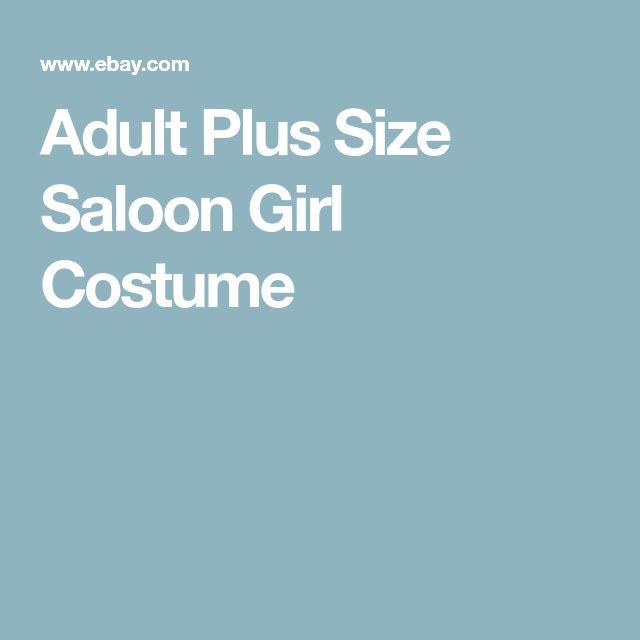 Adult Plus Size Saloon Girl Costume