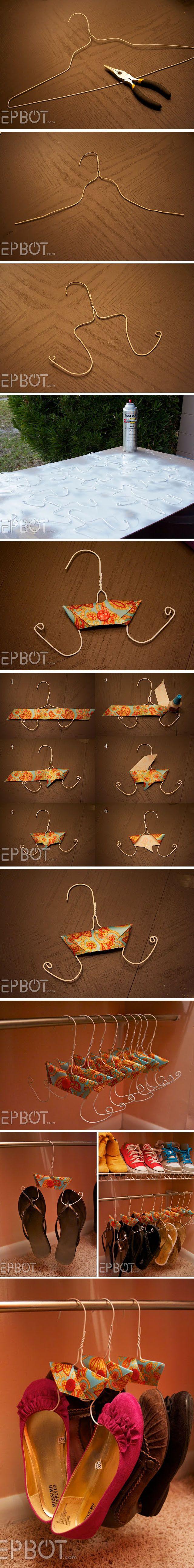 Ingeniosos colgadores de calzado