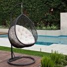 Hanging Egg Chair - Outdoor Rattan Wicker - Black