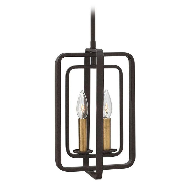 hinkley lighting hinkley quentin 2light chandelier in buckeye bronze 4813kz