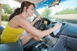 7 Steps for Car Interior Cleaning (such a good idea to use compressed air for those tiny spots you cant get to!!)