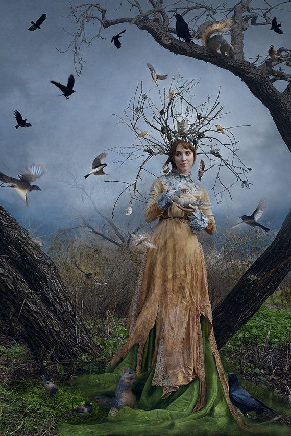 """Druids Trees:  """"The Court of the #Dryad Queen,"""" Sarah Allegra Artistry Fine Art Print."""