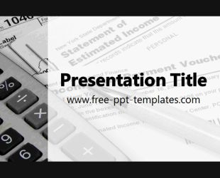 Tax PowerPoint Template is a white template with appropriate background image which you can use to make an elegant and professional PPT presentation. This FREE PowerPoint template is perfect for presentations that are related to various taxes, duties and similar business burdens.