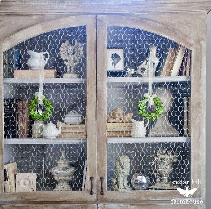Chicken Wire Kitchen Cabinet Doors: 1000+ Ideas About Chicken Wire Cabinets On Pinterest