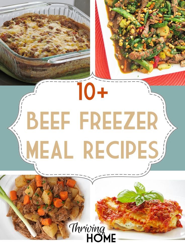 Easy to make beef freezer meal ideas.