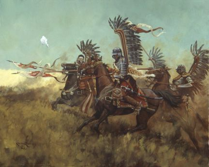 "Keith Rocco's ""Polish Winged Hussars."" Stranger than fiction! :)"