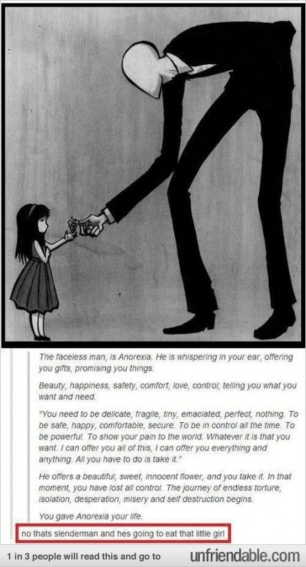 but really though that is slenderman and he will not hesitate to eat that child