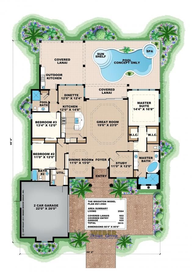 Brighton floor plan by weber design group mediterranean for Weber house plans