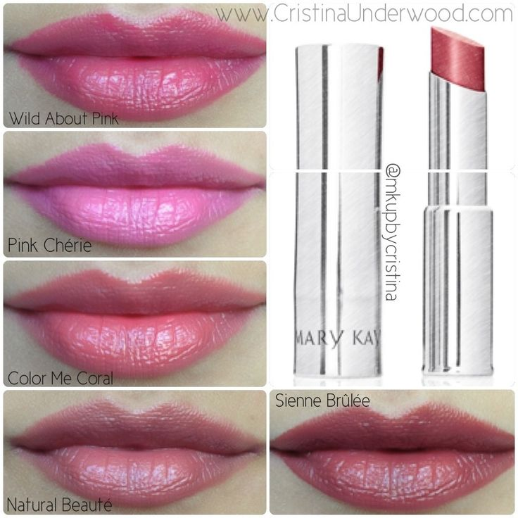 Mary Kay True Dimensions lipstick Swatches | Makeup by Cristina Underwood