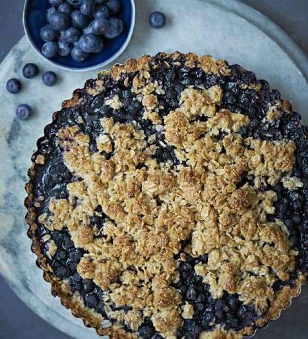Smulpaj med blåbär & råsocker - Mitt kök