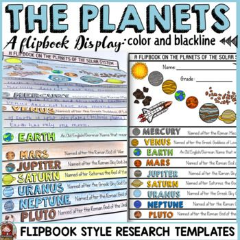 Your students will have as much fun as mine did in assembling this flipbook featuring the nine planets of the solar system.