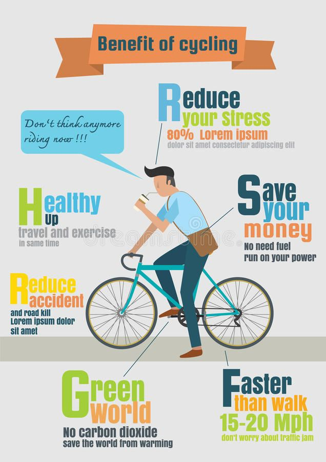 Download Infographic Of Bicycle Rider Benefit Of Cycling Stock Illustration Illustration Of Road Infographic Save Money Travel Cycling