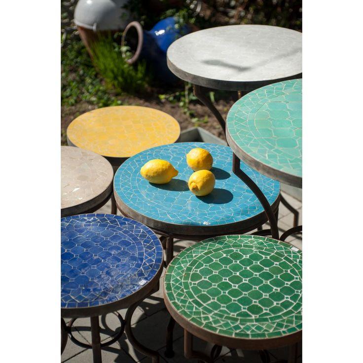 Marockanska mosaikbord - Möbler | SPITI - Skön inredning - Marockansk orientalisk indisk fransk provence