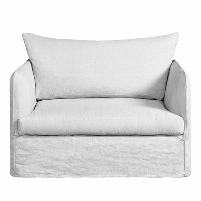 Fauteuil XL convertible Neo Chiquito, toile lin 122 * 82 * 95 (profondeur) couchage 73 * 183
