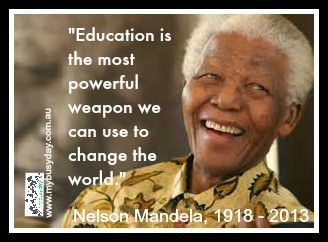"Nelson Mandela was the first black president of South Africa from 1994 to 1999. A symbol of global peacemaking, he won the Nobel Peace Prize in 1993. In 2009, Mandela's birthday (July 18) was declared ""Mandela Day"" to promote global peace and celebrate his legacy. Mandela died at his home in Johannesburg on December 5, 2013, aged 95."