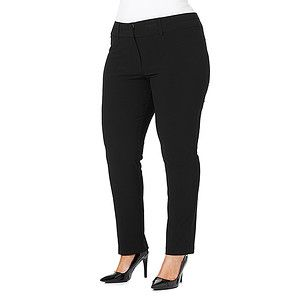 MODA Stretch Work Pants - Black – Target Australia - sizes 16 - 26 good pants that are an alternative to leggings and will avoid you looking bigger than you are (wide legged pants)