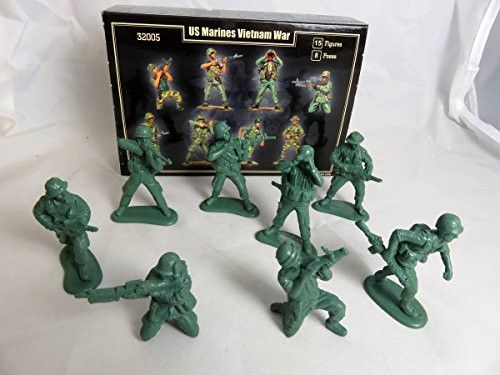 Mars Company: Vietnam War U.S. Marines 15 figures in 8 poses, 54mm Offered By Classic Toy Soldiers, Inc