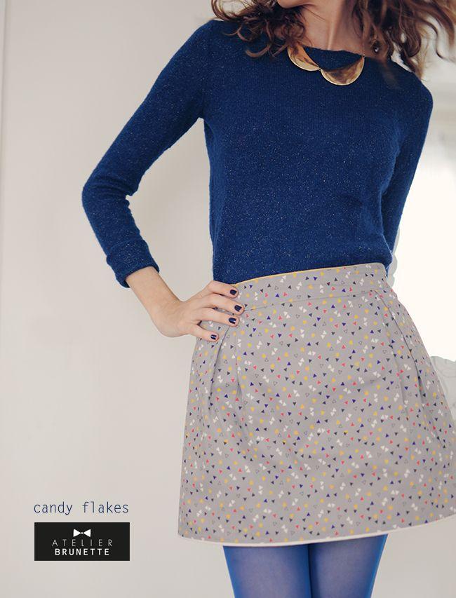 vanessa | pouzet | Jupe twist + atelier brunette - candy  ce bleu la!!!
