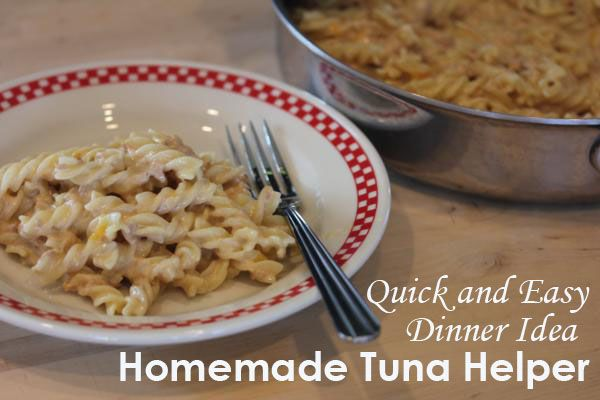 Tuna Helper has always seemed like a yucky 1960's kind of dinner to me but this homemade version was delicious!!  It was also quick and easy, which is always a plus.  - LynnsKitchenAdventures.com