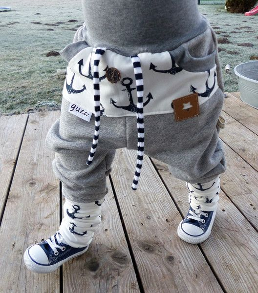 Pumphosen - ♥ Gr. 86-122 - Sweat Anker-Pumphose♥ - ein Designerstück von guzzz bei DaWanda