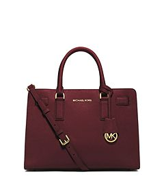 Dillon Saffiano Leather Satchel by Michael Kors