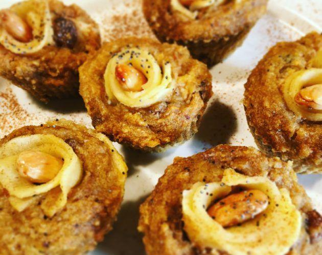 Muffin con carote, mandorle e fiori di mela » Il Cibo della SaluteIl Cibo della Salute