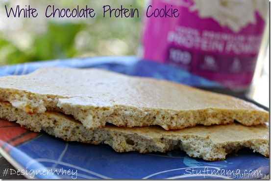 White Chocolate Protein Cookie - white protein powder, unsweetened applesauce, baking powder, vanilla