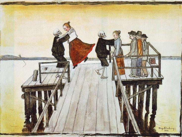 Hugo Simberg - Dance On The Quay (1899)