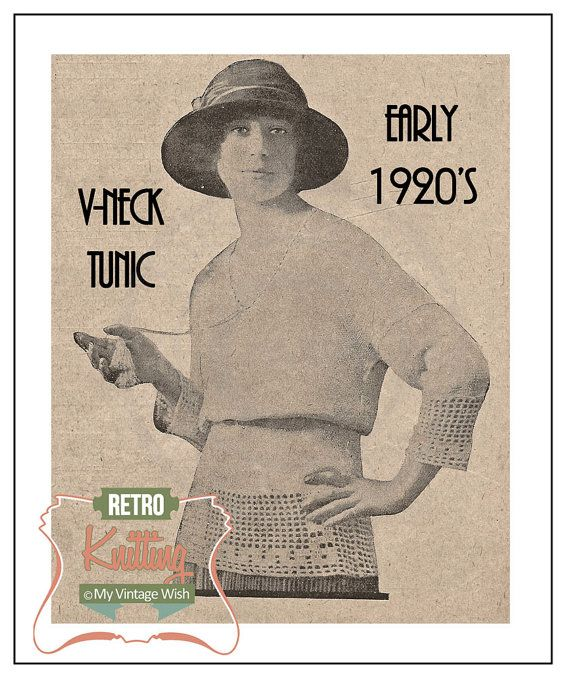 Vintage Knitting Patterns 1920s : 1920s Ladies Sports Sweater Vintage Knitting Pattern   PDF Instant Download ...