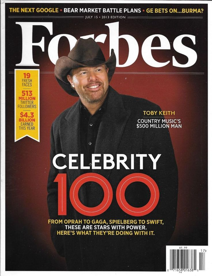 Forbes magazine Celebrity 100 Toby Keith The