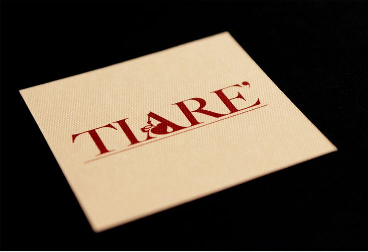 Tiarè business card by CREA OFFICINA