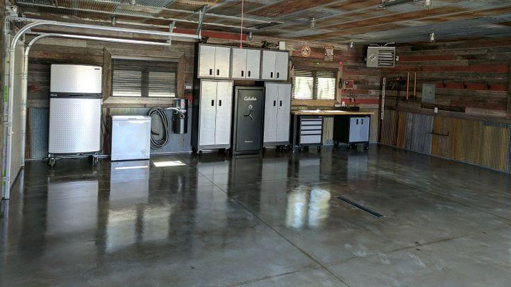 Clear single-part polyurea garage floor coating - Beautiful!