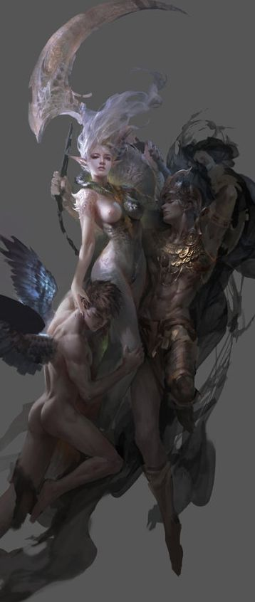 fantasy elves concept art