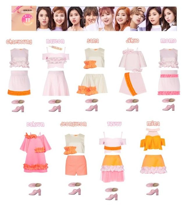 TWICE - TT💚 ️💙💛💜 | My Polyvore Finds | Outfits, Fashion ...