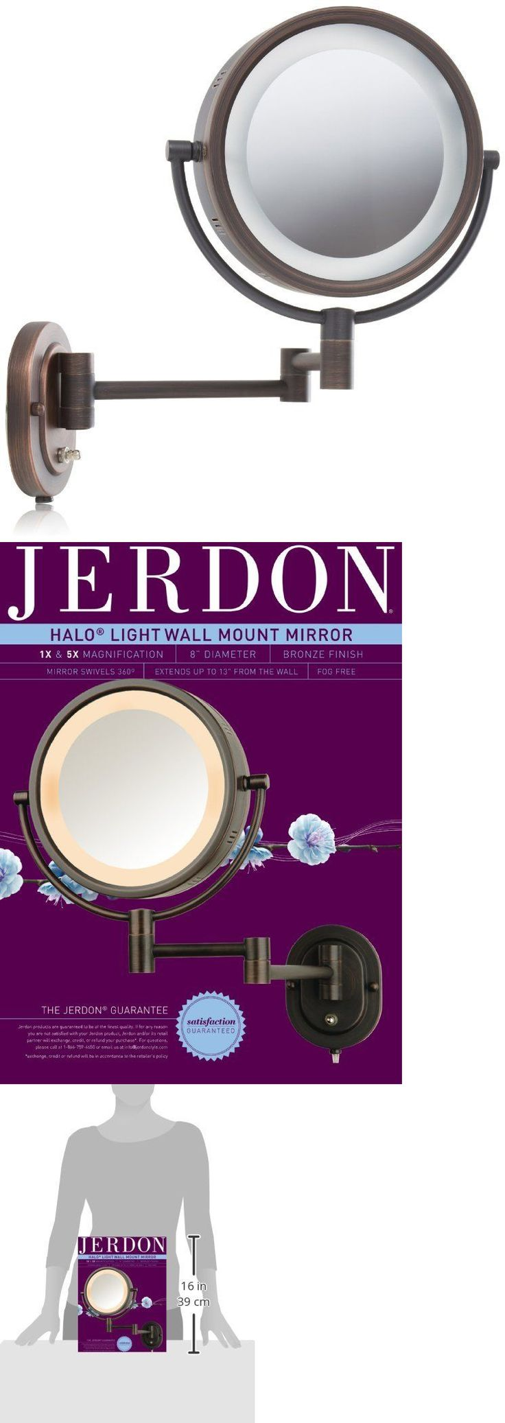17 best ideas about wall mounted makeup mirror makeup mirrors vanity mirror wall mount bathroom magnifying mirror bronze lighted 8 in buy it