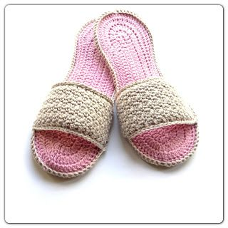 Annoo's Crochet World: Happy Mom's Day Spa Slippers Free Pattern