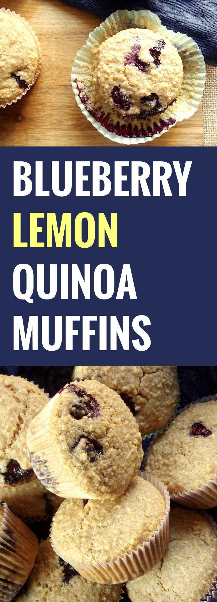 Blueberry Lemon Quinoa Muffins - instead use oat flour, honey and coconut yogurt