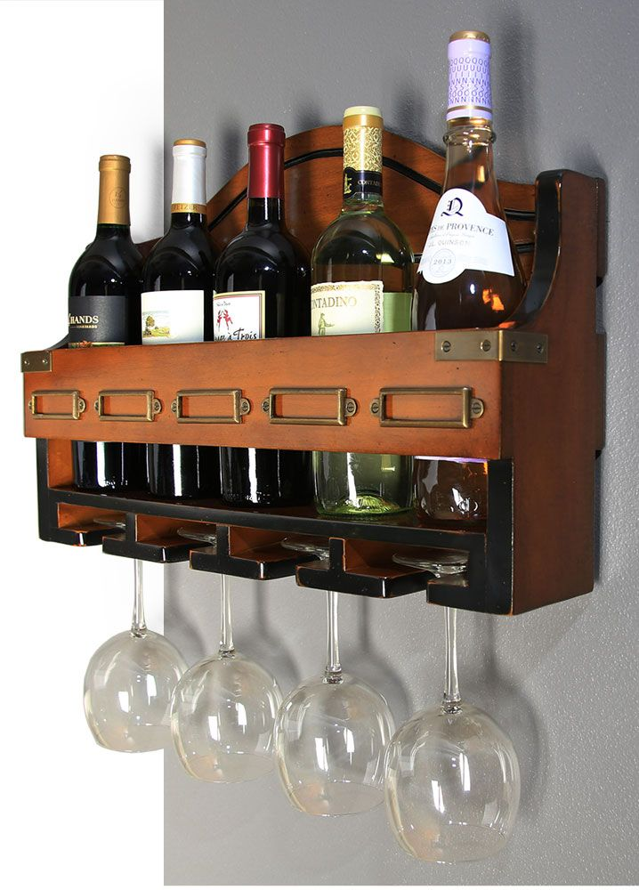 Wine rack available at InvitingHome.com. Red or white, rose in summer. A wall rack with the stamp and approval of the professional sommelier. Glasses hanging, a classic kitchen accouterment