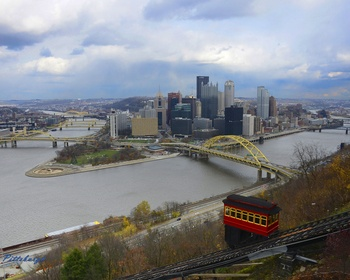 City of Pittsburgh, Incline View Picture at Pittsburgh Steelers Photo Store