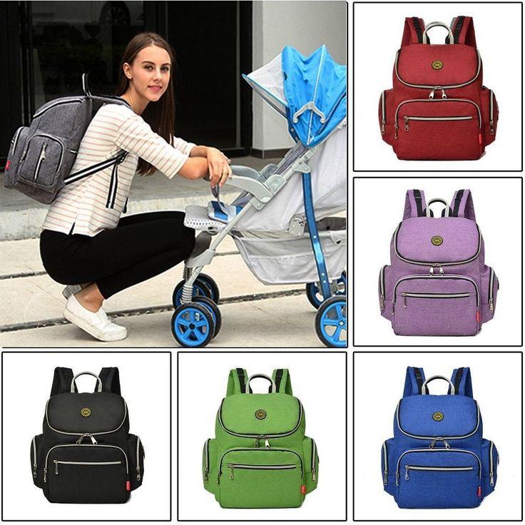 Mummy Maternity Nappy Diaper Bag Large Capacity Travel Backpack Shoulder Bag HOE   Baby, Diapering, Diaper Bags   eBay!