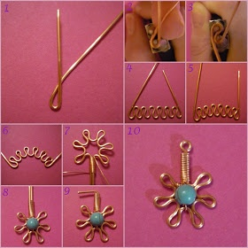 Tutorial for dangle. #Wire #Jewelry #Tutorials