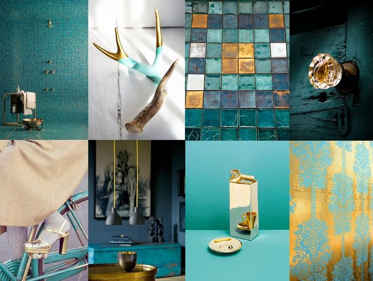 New Teal: teal & gold interior #gold #teal #interior #colour