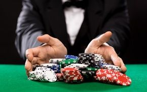Обои game table, betting, costumes, cards, casino