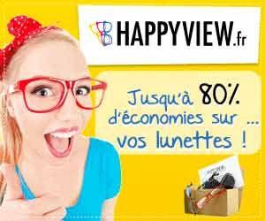 HappyView : lunettes jusqu'à -80% moins chères chez cet opticien low cost agréé par la Sécurité Sociale et les mutuelles | Maxi Bons Plans