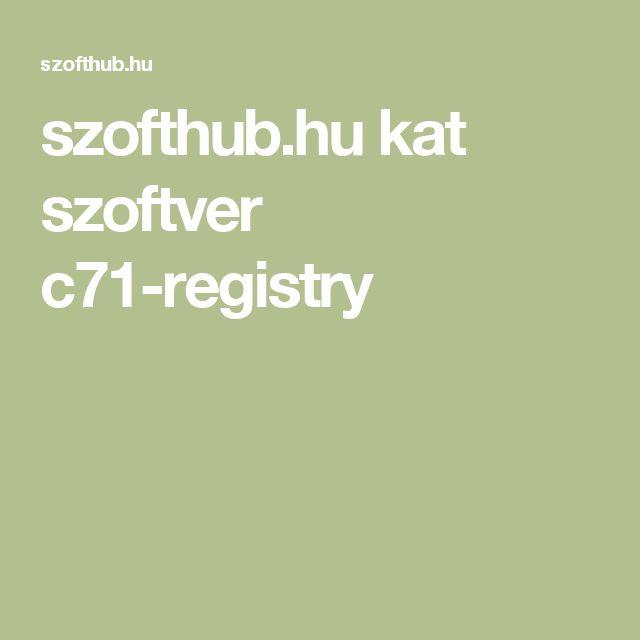 szofthub.hu kat szoftver c71-registry