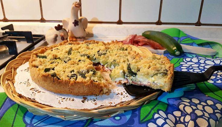 Sbriciolata+di+zucchine,+robiola+e+speck