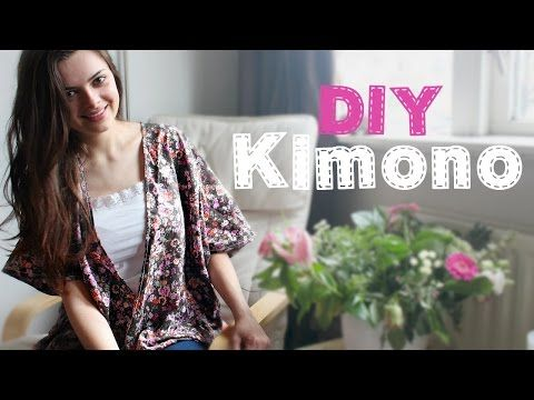Make a cute kimono top in 30 minutes. Perfect sewing project for beginners!