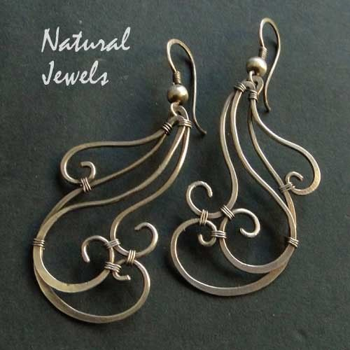 Waves earrings by Natural Jewels