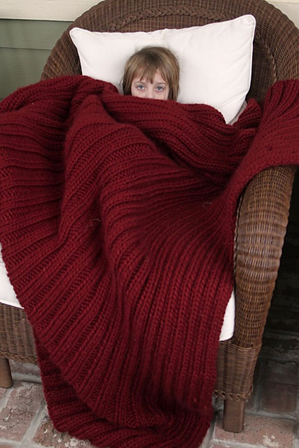 knitted blanket.